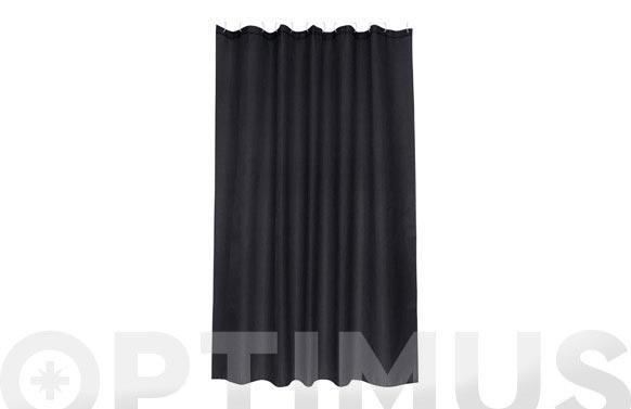 Cortina baño poliester intense negro 180 x 200 cm