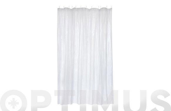 Cortina baño pvc cristal 180 x 200 cm
