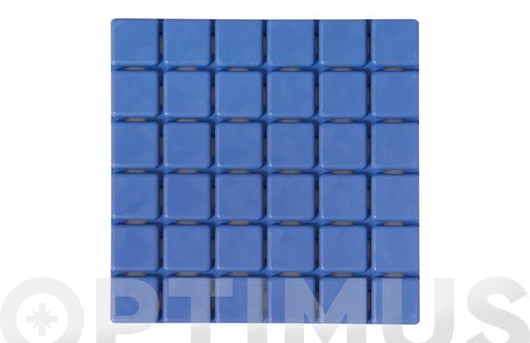 Antideslizante pack bañera 6 quadros azules 13 x 13 cm