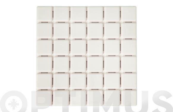 Antideslizante bañera 6 quadros blanco 13 x 13 cm