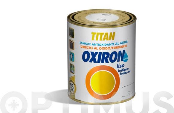 Esmalte agua oxiron liso brillante 750 ml blanco