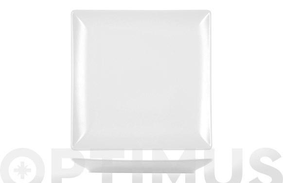 Plato cuadrado stoneware blanco 18 x 18 cm