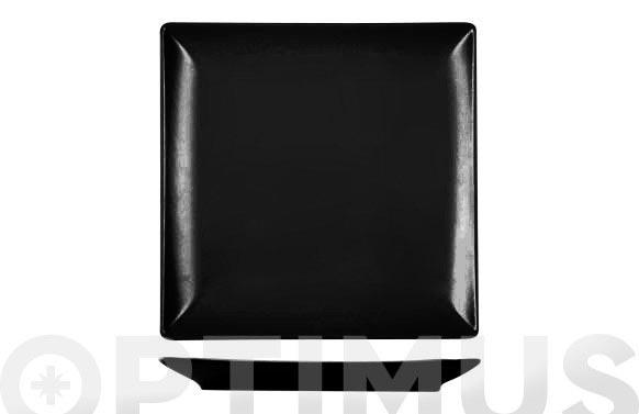 Plato cuadrado stoneware negro 18 x 18 cm