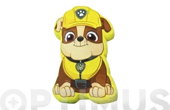 Cojin patrulla canina rubble 38 cm amarillo