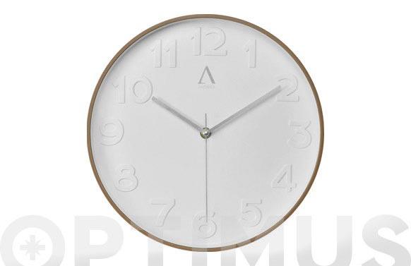 Reloj pared ø30 cm madera cerezo