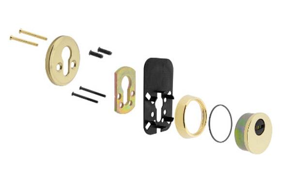 Escudo seguridad e700l dorado