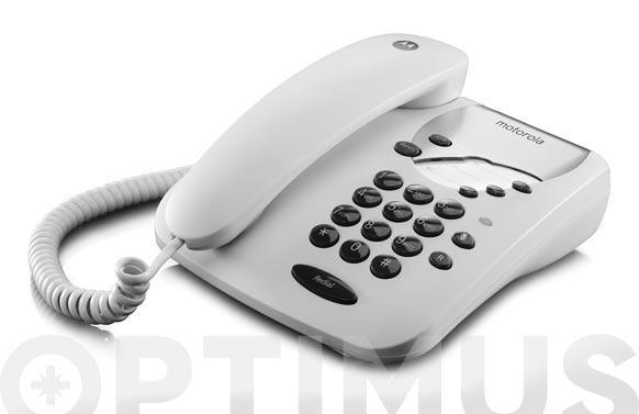 Telefono de cable sin display ct1 blanco