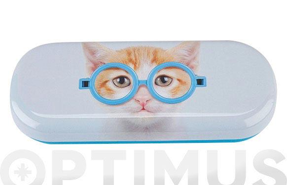 Funda gafas gato