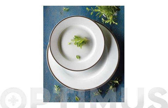 Vajilla 19 piezas porcelana nea-gris marengo