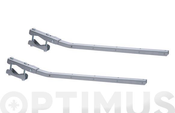 Tendedero baranda adaptable y abatible gris