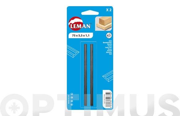 Cuchilla cepillo electrico reversible 2 uds 78x5,5 mm
