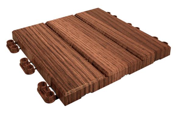 Loseta lop imitacion madera click 9 uds 30 x 30 cm