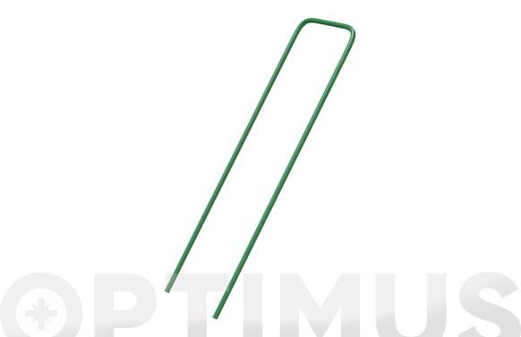 Grapas metalicas fixsol 17 x 3,5 cm verde 10 uds