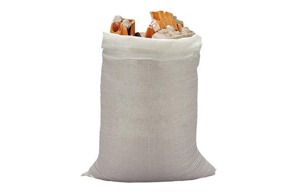 Saco rafia 10 uds 50x80 cm blanco