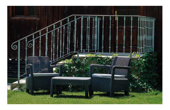 Conjunto ratan resina tarifa balcony antracita