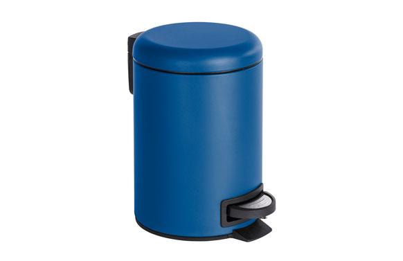 Cubo baño con pedal leman azul oscuro 3 l