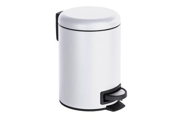 Cubo baño con pedal leman blanco 3 l