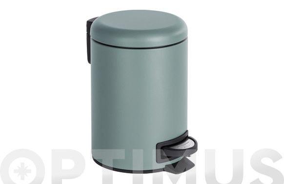 Cubo baño con pedal leman gris 3 l