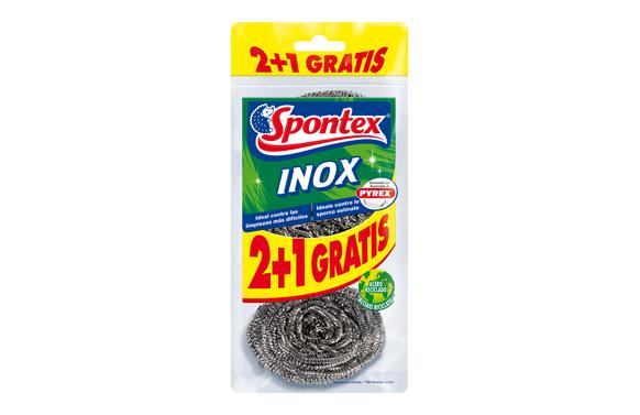 Estropajo barbacoas y parrillas inox 2+1