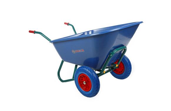 Carretilla nilon azul c2/900 300l 2 ruedas impinchables
