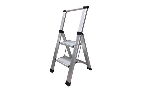 Escalera aluminio domestica peldaño super ancho 2 peldaños