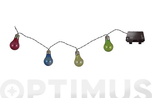 Guirnalda 10 luces color led a pilas ø5x8.5 cm 4.2 m