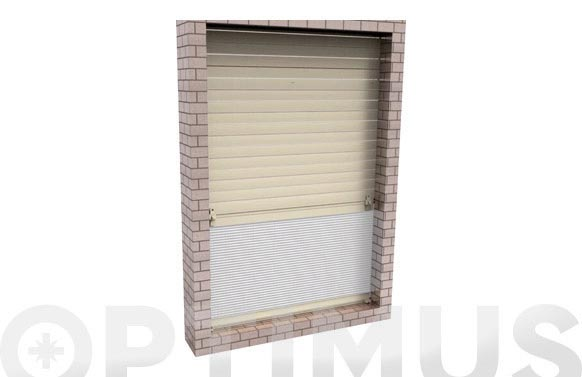 Mosquitera plisada up enrollable blanco 130 x 160 cm