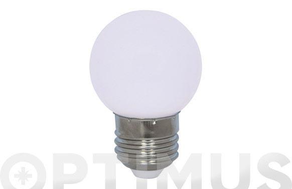 Lampara mini esferica deco 0,9w e27 blanco