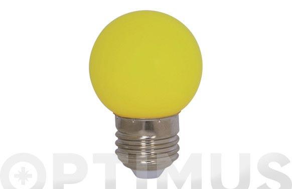 Lampara mini esferica deco 0,9w e27 amarilla