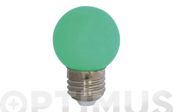Lampara mini esferica deco 0,9w e27 verde