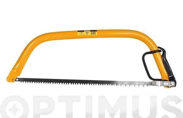 Arco de sierra tronzar madera 21  54 cm. tubo oval 31 x 17,5 / con guarda manos