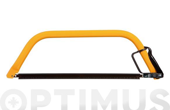Arco de sierra tronzar madera 24  61 cm. tubo oval 31 x 17,5 / con guarda manos