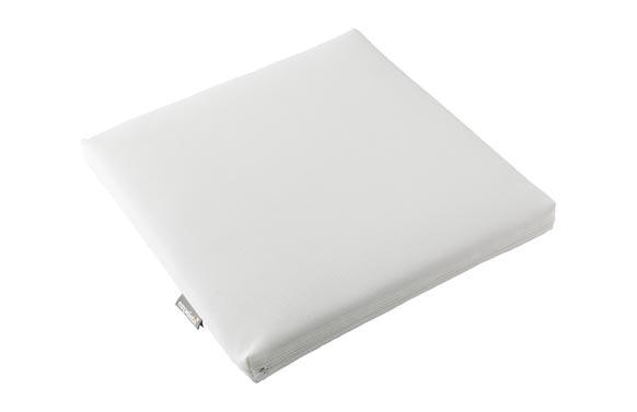 Cojin asiento aqua blanco 45 x 45 x 6 cm