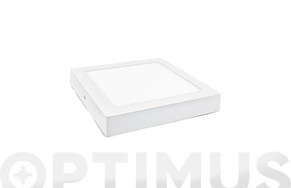 Downlight led superficie cuadrado blanco 18 w 1800 lm neutra (4000k)