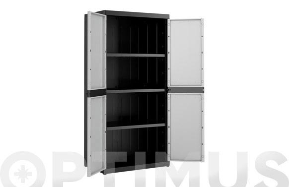 Armario resina 3 estantes xl praktical 182 x 89 x 54 cm