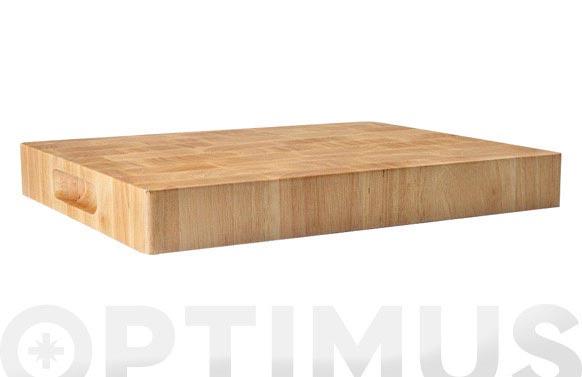 Tabla de corte rubber wood 33x25x4 cm