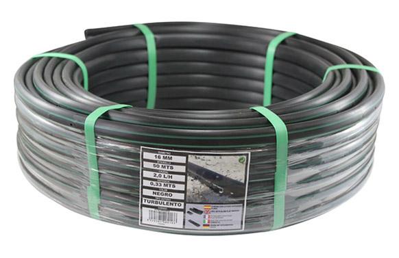 Tuberia para goteo negro goteros integrados ø 16 mm 25 m