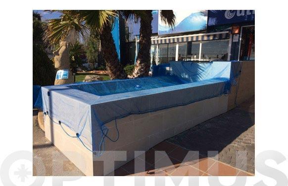 Cubierta de piscina malla antihojas 5x5m