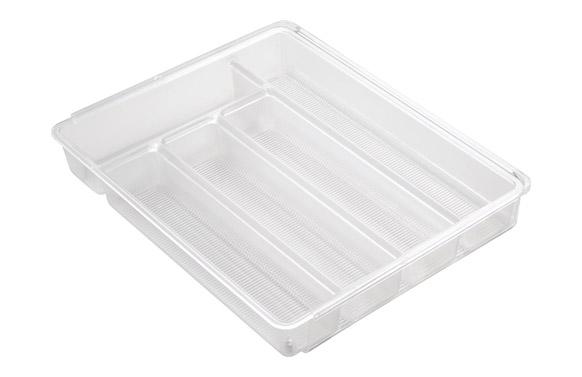Cubertero transparente expandible 29 a 51 x 36 x 6 cm