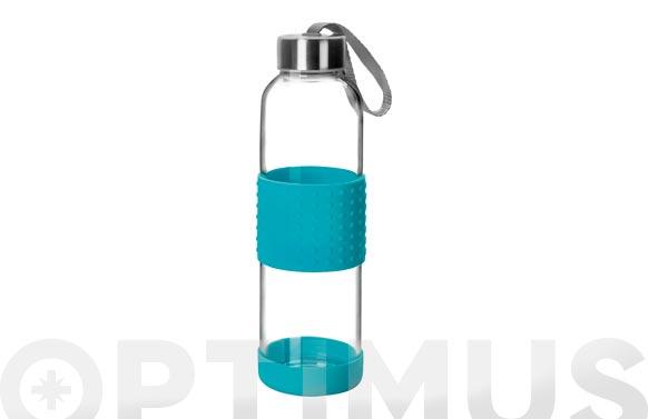 Botella vidrio + silicona azul 0,5 l