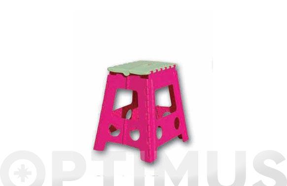 Taburete plegable plastico 23x34x27 cm tb1 colores surtidos