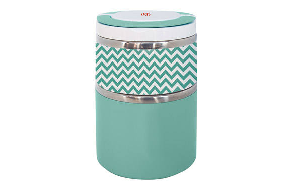 Termo solidos lunchbox doble verde inox 0,9 l