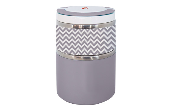 Termo solidos lunchbox doble gris inox 0,9 l