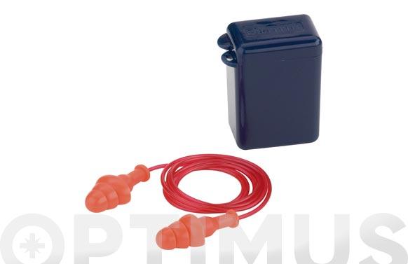 Tapon auditivo reutilizable con cordon snr 25 db