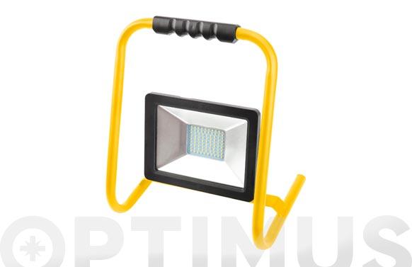 Foco proyector led 30 w con soporte 3000 lm luz fria ip65