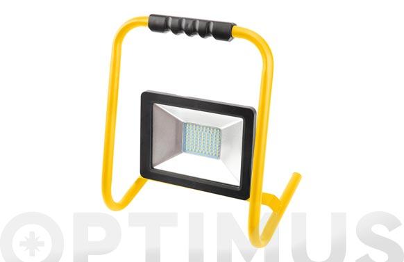 Foco proyector led 50 w con soporte 5000 lm luz fria ip65