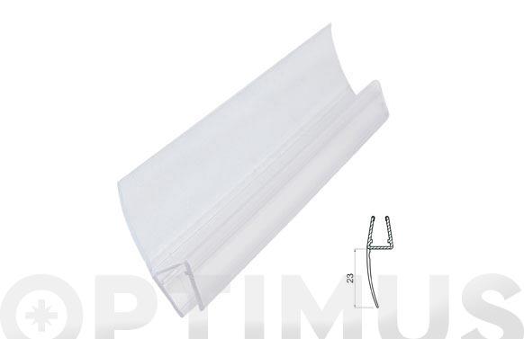 Perfil junta mampara baño/ducha 23mm/6-8mm/2mt