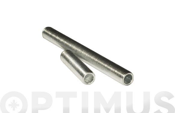 Varilla roscada hueca para lampara (2 unidades) m10/100x100 mm cincada