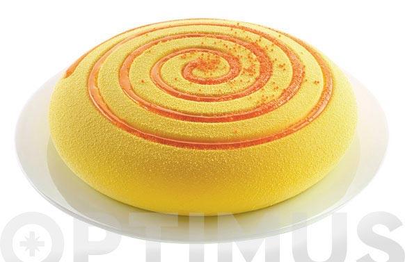 Molde silicona 3d redondo espiral