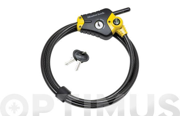 Cable seguridad ajustable python 1,80 m x 10 mm